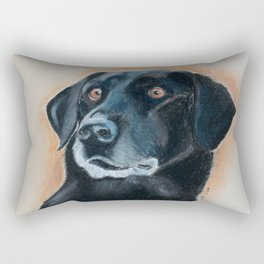 Nutter. A black lab Rectangular Pillow