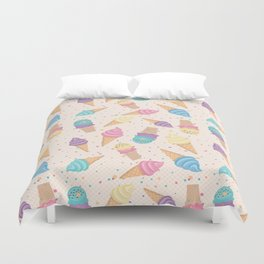 ice cream party Duvet Cover