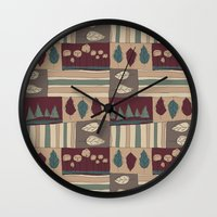 quilt Wall Clocks featuring Quilt by Molly Smisko
