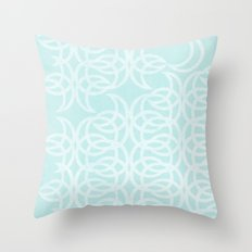 Blue Lunar Throw Pillow
