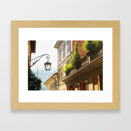 Street Lamp, Bellagio Framed Art Print