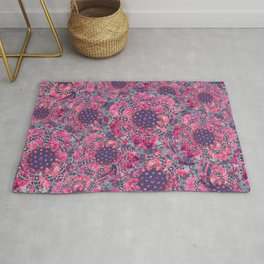 P242020 Colourburst flowers Cyclamen Rug