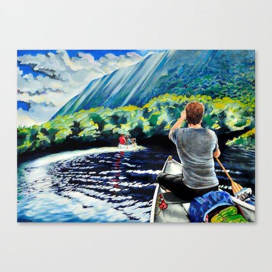 Chris+Canoe+Pilly=YES Canvas Print