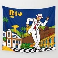 rio Wall Tapestries featuring Rio Bohemia by Monica Fuchshuber