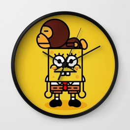 sponge new fun cartoon style sticker iphone cover case wallet bob Wall Clock
