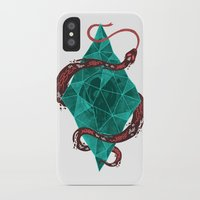 crystal iPhone & iPod Cases featuring Mystic Crystal by Hector Mansilla
