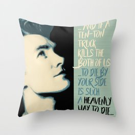 """Heavenly way to Die"" Throw Pillow"