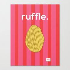 Ruffle Canvas Print