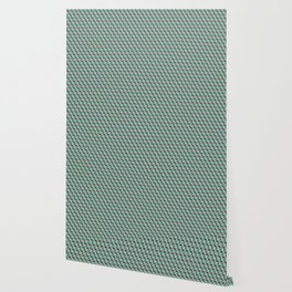 Pistachio Grey Seamless Cube Pattern Wallpaper