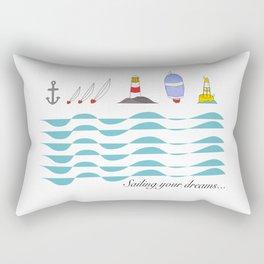 Sailing your dreams Rectangular Pillow