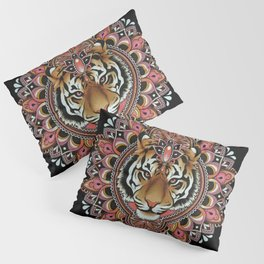 Tiger Mandala Pillow Sham
