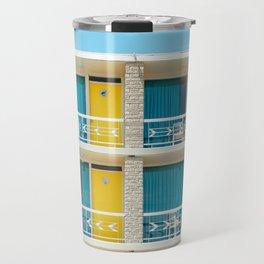 Retro Hotel Print Travel Mug