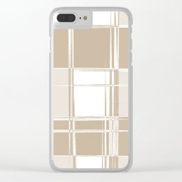 I Liked Plaid Before Plaid Was Cool (Hipster Series) Clear iPhone Case