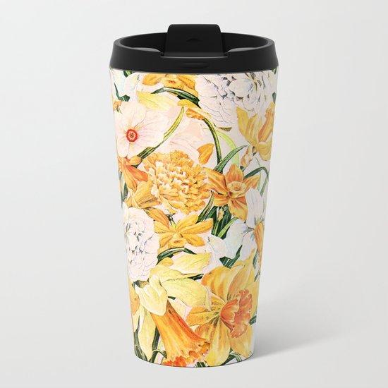 Wordsworth  and daffodils. Metal Travel Mug