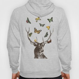 The Stag and Butterflies Hoody