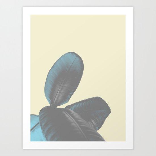 Ficus Elastica #5 #pastel #yellow #art #society6 Art Print