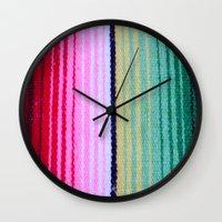 blanket Wall Clocks featuring Blanket by John Lyman Photos