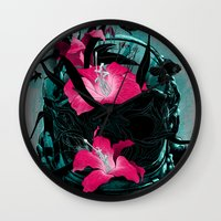 nietzsche Wall Clocks featuring The Last of Us by angrymonk