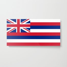 Flag of Hawaii - Authentic High Quality image Metal Print