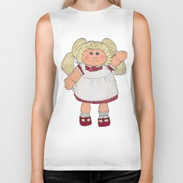 Cabbage Patch Doll on White Biker Tank