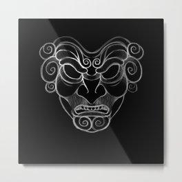 Ancient Mask Metal Print