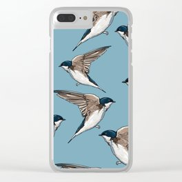 Birds Hipster Clear iPhone Case