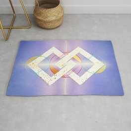 Linked Lilac Diamonds :: Floating Geometry Rug