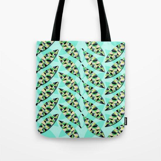 Geometric Leaves Tote Bag