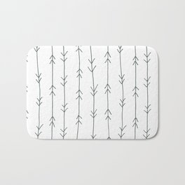 Grey, Steel: Arrows Pattern Bath Mat