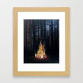 Campfie Strories Framed Art Print