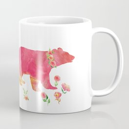 Bear with flowers - Animals Watercolor illustration Coffee Mug