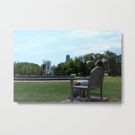 A Break from the City Metal Print