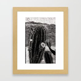 Cactus Beach. Framed Art Print