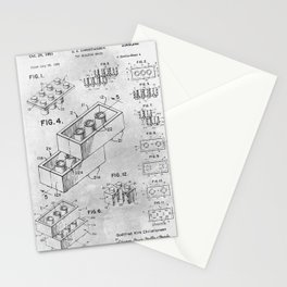 1961 Toy building brick Stationery Cards