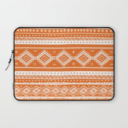 Tribal Aztec Lace Pattern (orange) Laptop Sleeve