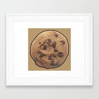 cookie Framed Art Prints featuring Cookie by Spooky Dooky