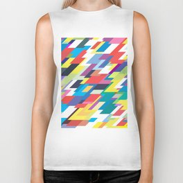 Layers Triangle Geometric Pattern Biker Tank