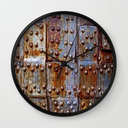Rusty iron armour Wall Clock