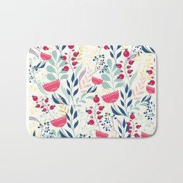 Beautiful Flowers Pattern Bath Mat
