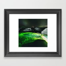 The Green Lagoon Framed Art Print