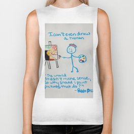 "t-shirt:""I can't even draw a stick figure"" Biker Tank"