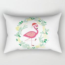 FLAMINGO CHRISTMAS WREATH Rectangular Pillow