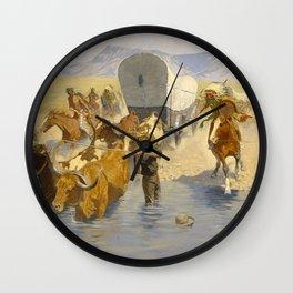 "Frederic Remington Western Art ""The Emigrants"" Wall Clock"