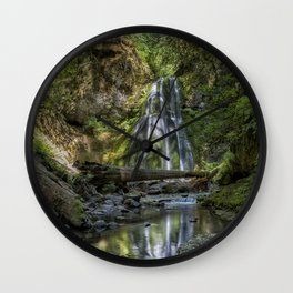 Spirit Falls with Reflections Wall Clock