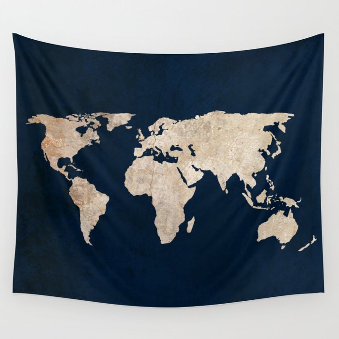 Inverted rustic world map wall tapestry by bysamantha society6 inverted rustic world map wall tapestry gumiabroncs Image collections