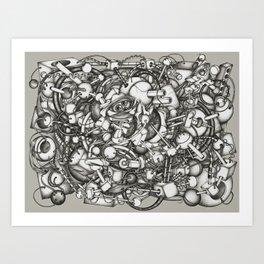 128h44m Art Print