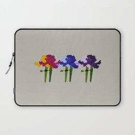 colorful iris screen print design Laptop Sleeve