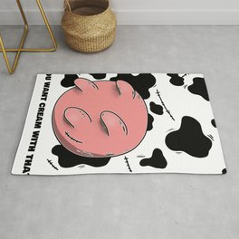 Funny You Want Cream With That CowsShirt  Design Images Udder Cows Udder Rock Rule Rug