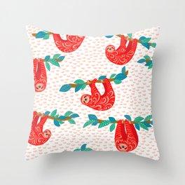 slothes Throw Pillow