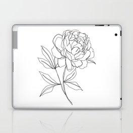 Botanical illustration line drawing - Peony Laptop & iPad Skin